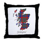 Map - Glasgow dist. Throw Pillow
