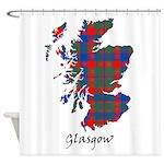 Map - Glasgow dist. Shower Curtain