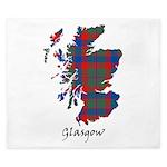 Map - Glasgow dist. King Duvet