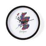 Map - Glasgow dist. Wall Clock