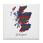 Map - Glasgow dist. Tile Coaster