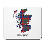 Map - Glasgow dist. Mousepad