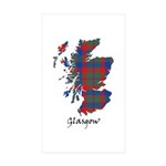 Map - Glasgow dist. Sticker (Rectangle 10 pk)