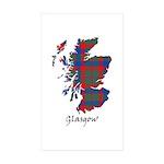 Map - Glasgow dist. Sticker (Rectangle 50 pk)