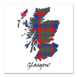 Map - Glasgow dist. Square Car Magnet 3
