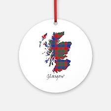 Map - Glasgow dist. Ornament (Round)