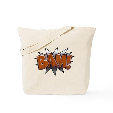 Metal-Wood Bam Tote Bag