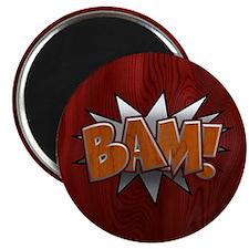 Metal-Wood Bam Magnet