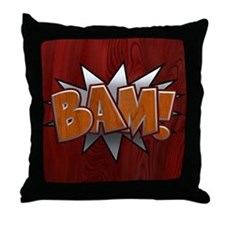 Metal-Wood Bam Throw Pillow