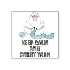 Keep Calm and Carry Yarn Sticker