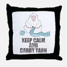 Keep Calm and Carry Yarn Throw Pillow