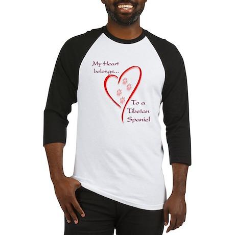 Tibetan Spaniel Heart Belongs Baseball Jersey