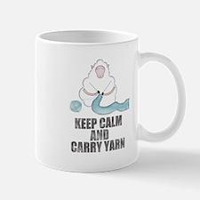Keep Calm and Carry Yarn Mugs