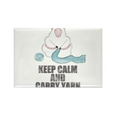 Keep Calm and Carry Yarn Magnets