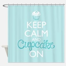 Keep Calm and Bake On Shower Curtain