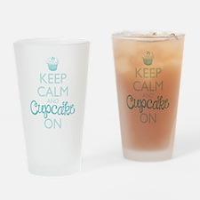 Keep Calm and Cupcake On Drinking Glass