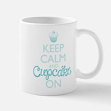 Keep Calm And Cupcake On Mugs
