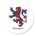 Lion - Glasgow dist. Round Car Magnet