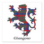 Lion - Glasgow dist. Square Car Magnet 3