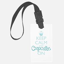 Keep Calm and Cupcake On Luggage Tag