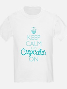 Keep Calm and Cupcake On T-Shirt