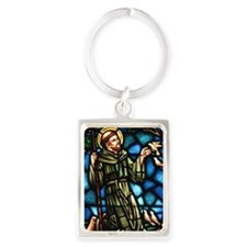 Saint Francis of Assisi Portrait Keychain