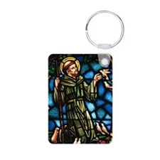 Saint Francis of Assisi Aluminum Photo Keychain