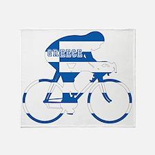 Greek Cycling Throw Blanket