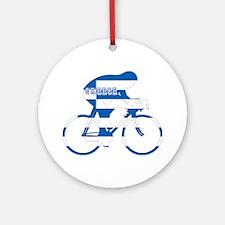 Greek Cycling Ornament (Round)
