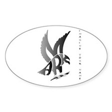 Mark brown eagle Oval Decal