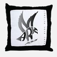 Mark brown eagle Throw Pillow