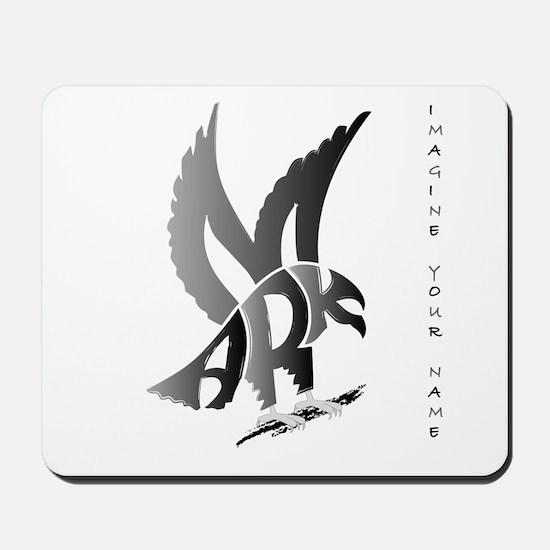 Mark brown eagle Mousepad