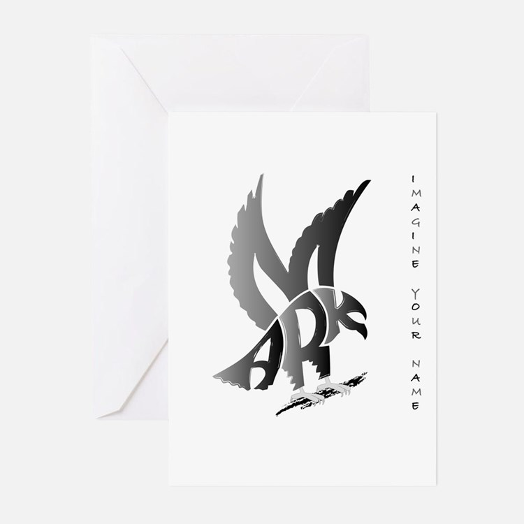 Mark brown eagle Greeting Cards (Pk of 10)