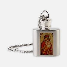 Mary The God Bearer Flask Necklace