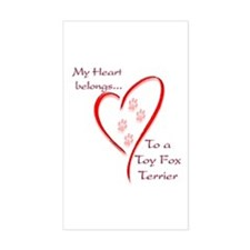 Toy Fox Heart Belongs Rectangle Decal