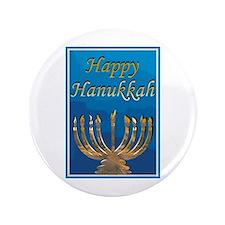 Happy Hanukkah 3.5&Quot; Button (100 Pack)
