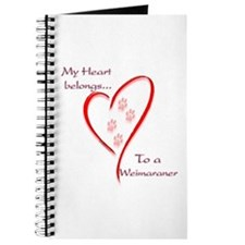 Weimaraner Heart Belongs Journal
