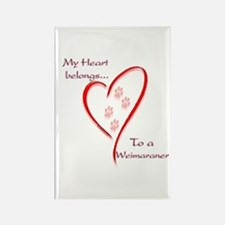 Weimaraner Heart Belongs Rectangle Magnet