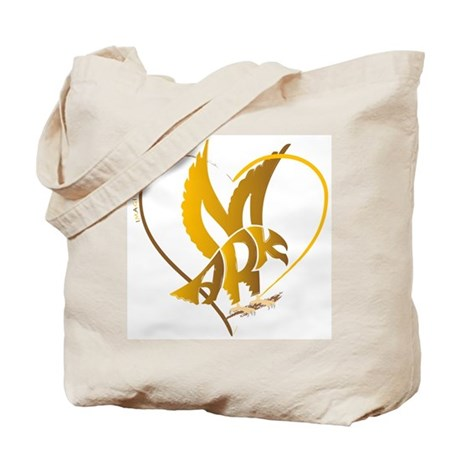 Mark gold eagle in a heart Tote Bag