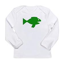 Green Cartoon Fish Long Sleeve T-Shirt