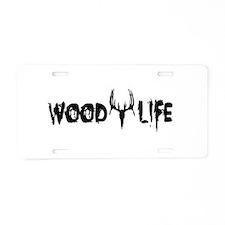 Wood Life Aluminum License Plate