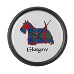 Terrier - Glasgow dist. Large Wall Clock
