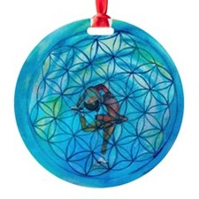 Sacred Geometry on Ice Ornament