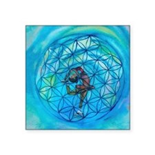 "Sacred Geometry on Ice Square Sticker 3"" x 3"""