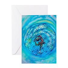 Sacred Geometry on Ice Greeting Card
