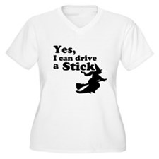 Yes, I Drive Stick Plus Size T-Shirt