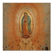 "Lady of Guadalupe Square Car Magnet 3"" x 3"""