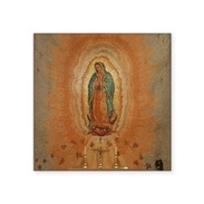 "Lady of Guadalupe Square Sticker 3"" x 3"""