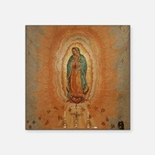 """Lady of Guadalupe Square Sticker 3"""" x 3"""""""