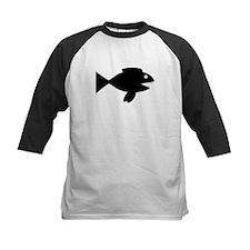 Black Cartoon Fish Baseball Jersey